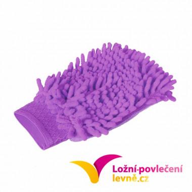 Mycí houba (rukavice) na auto z mikrovlákna - fialová