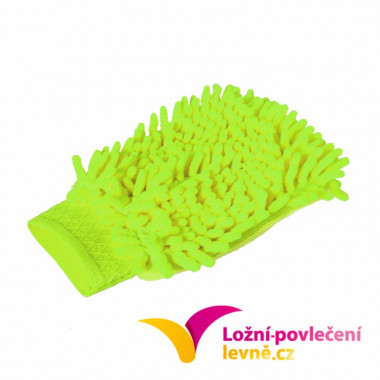 Mycí houba (rukavice) na auto z mikrovlákna 2 ks - zelená