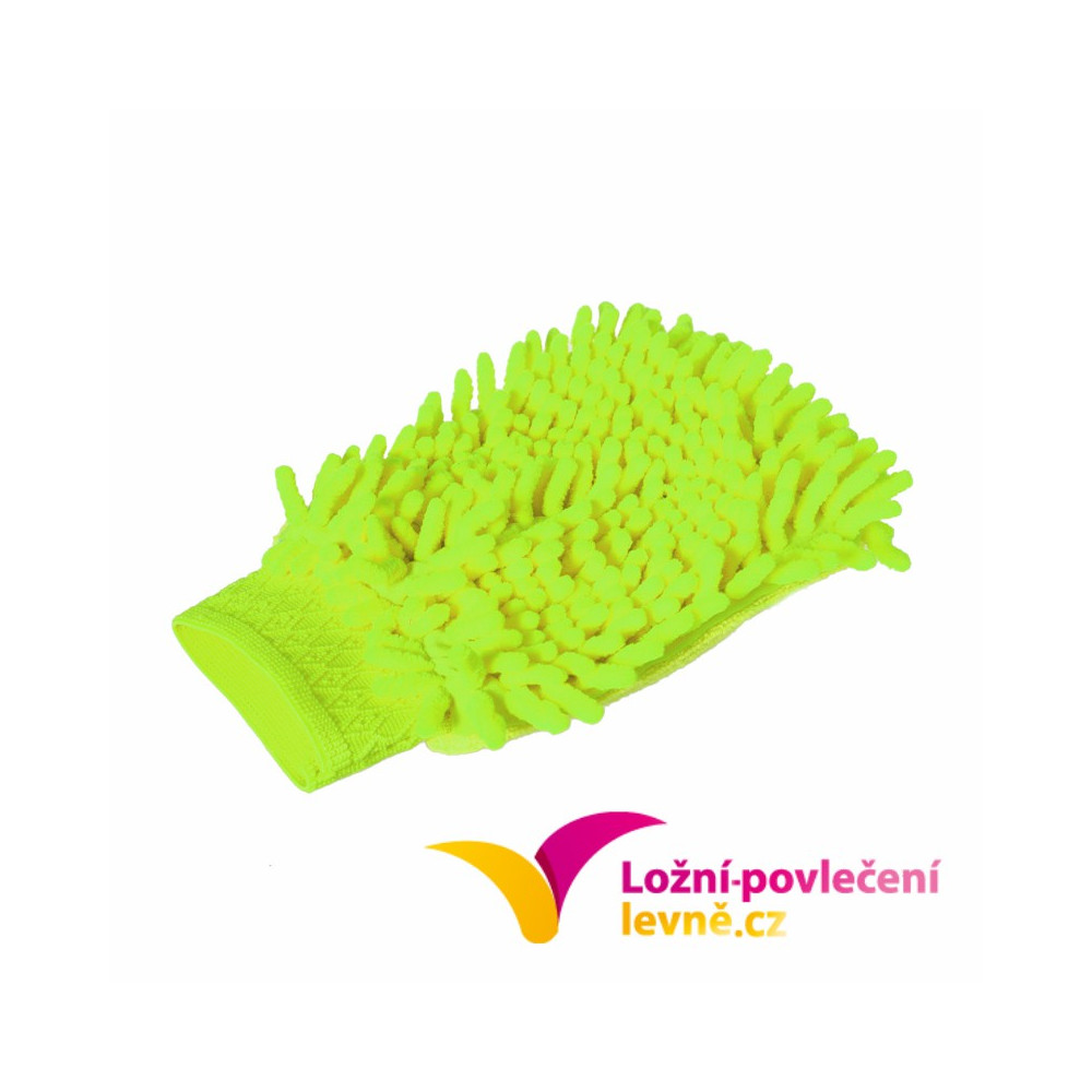 Mycí houba (rukavice) na auto z mikrovlákna - zelená