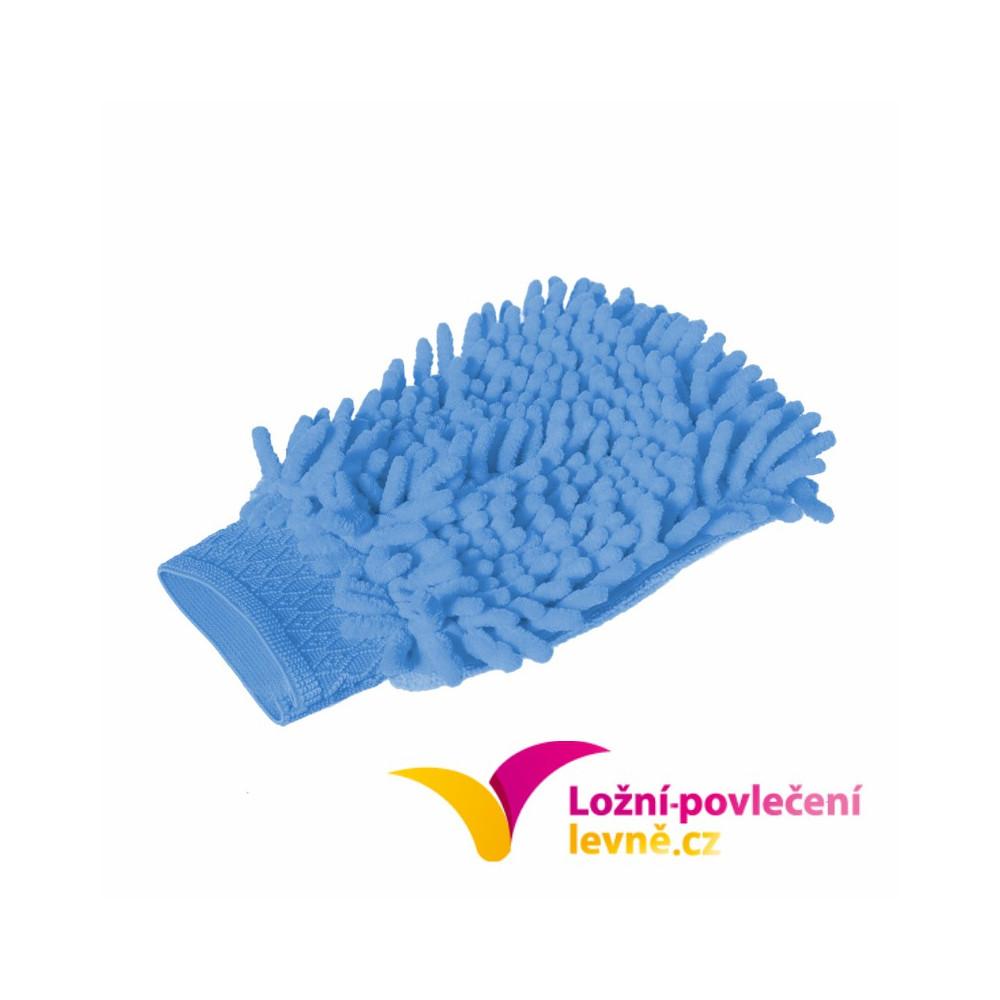 Čistící rukavice z mikrovlákna 3 ks - modrá
