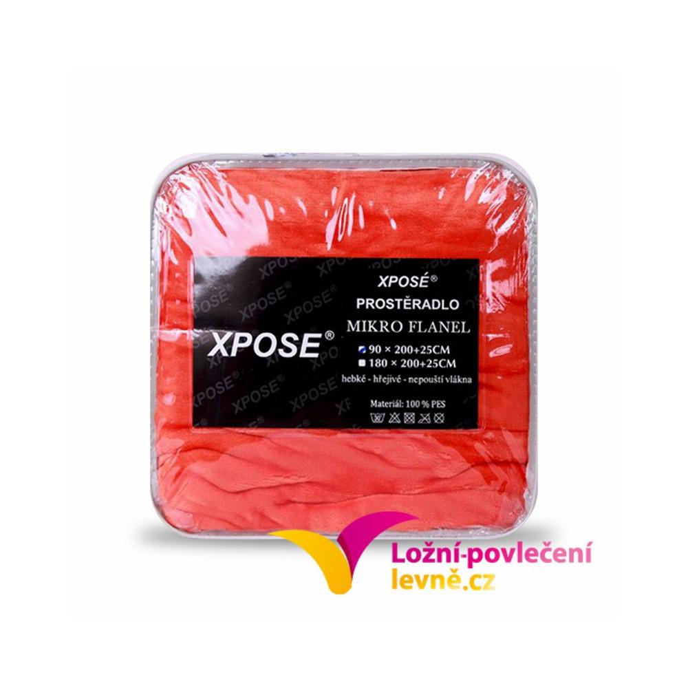 Xpoze Prostěradlo mikroplyš oranžová 180x200x25