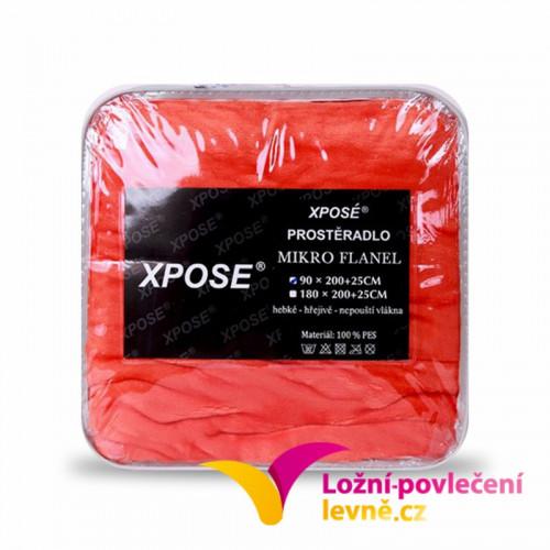 Xpoze Prostěradlo mikroflanel oranžová 90x200x25