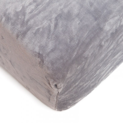 Mikroflanelové prostěradlo 90x200 cm - šedé