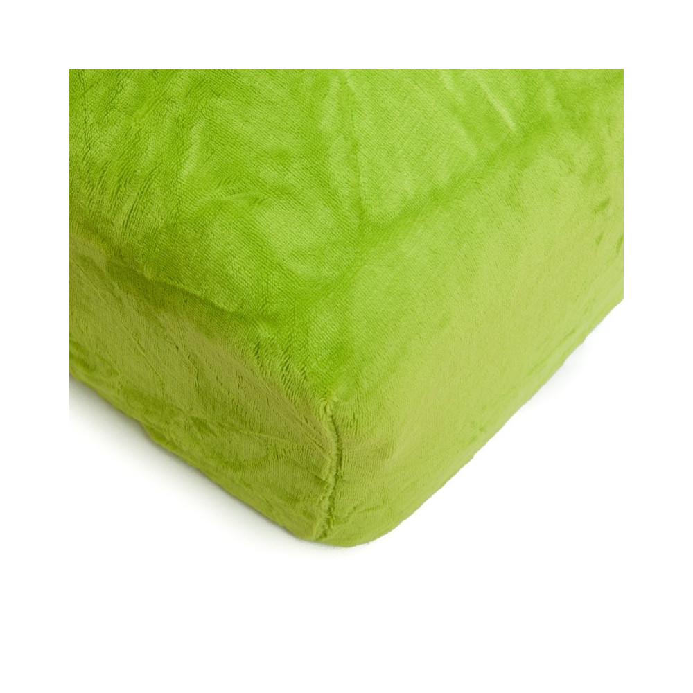 Mikroflanelové prostěradlo 90x200 cm - zelené