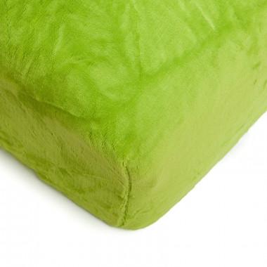 Mikroflanelové prostěradlo 150x200 cm - zelené