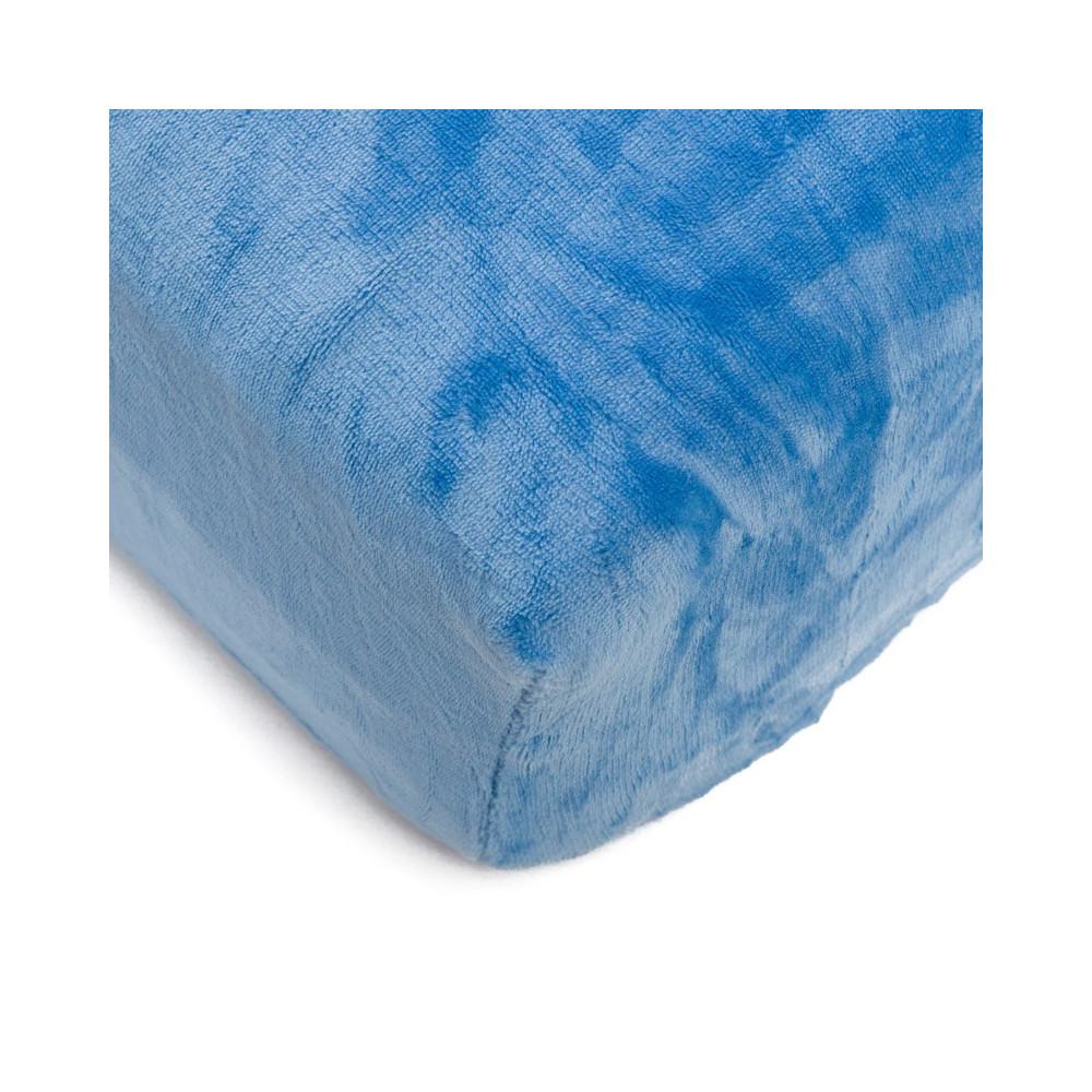 Mikroflanelové prostěradlo 90x200 cm - modré