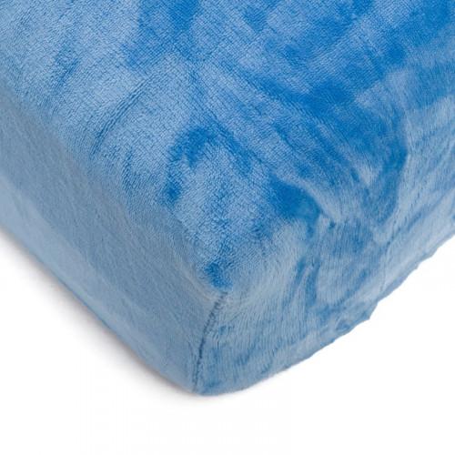 Mikroflanelové prostěradlo 150x200 cm - modré