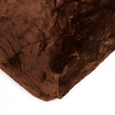 Mikroflanelové prostěradlo 90x200 cm - hnědé