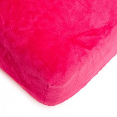 Mikroflanelové prostěradlo 150x200 cm - pink
