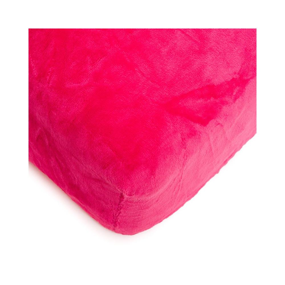 Mikroflanelové prostěradlo 180x200 cm - pink