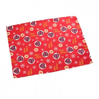 utěrka - vánoční srdce červená