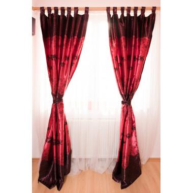 Závěs 145x245 - red&black