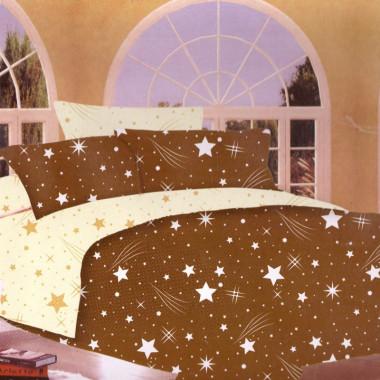 7-dílné povlečení- Hvězdy a křivky-hnědá