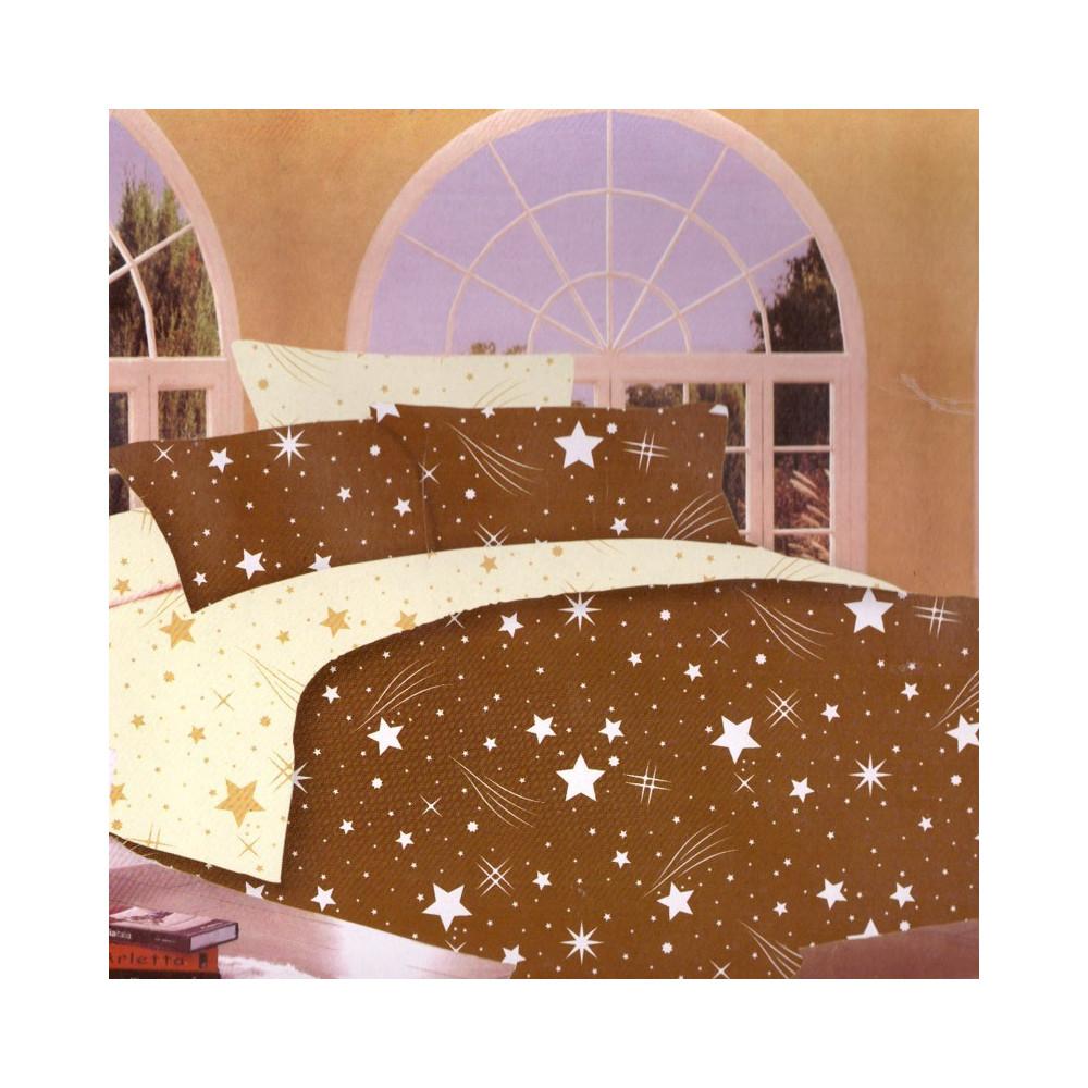 7-dílné bavlněné povlečení na dvoulůžko - hvězdy s křivkami 1