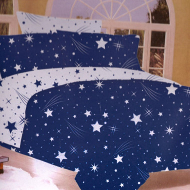 7-dílné povlečení- Hvězdy a křivky-modrá