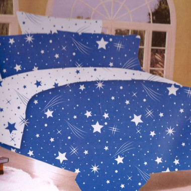 7-dílné bavlněné povlečení na dvoulůžko - hvězdy a křivky 5