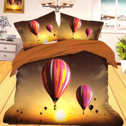 3D francouzské povlečení - Horkovzdušné balóny