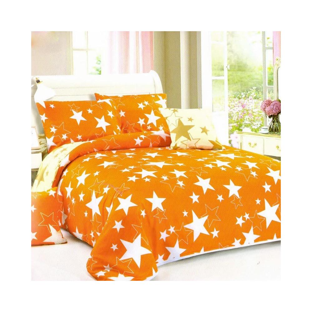 6-dílné francouzské povlečení - Oranžové hvězdy