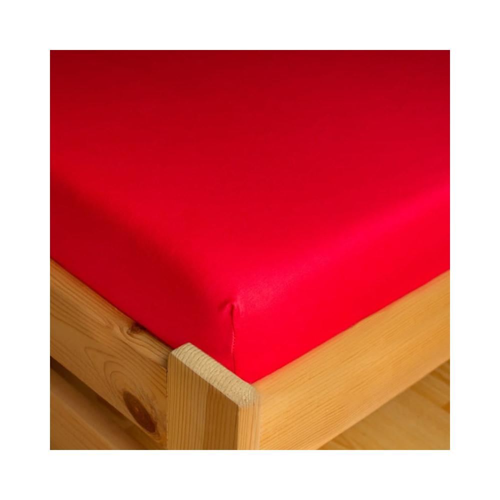 Napínací JERSEY prostěradlo - červená
