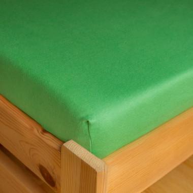 Napínací JERSEY prostěradlo - zelená