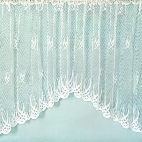 Záclona s motivem křivek 171x320 cm