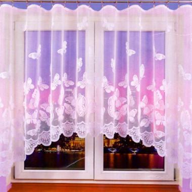 Záclona s motivem motýlů 161x320 cm