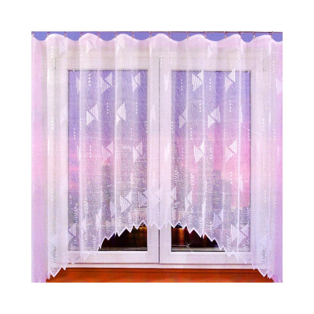 Záclona s motivem trojúhelníků 161x320 cm