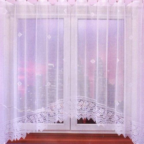 Záclona s motivem tvarů 161x350 cm