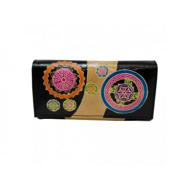 Dámská kožená peněženka s orientálním vzorem