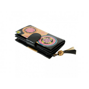 Orientální dámská kožená peněženka