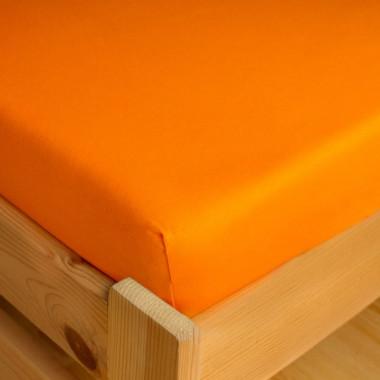 Dětské napínací JERSEY prostěradlo 70x140 - oranžová