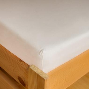 Dětské napínací frotte prostěradlo 70x140 - bílá