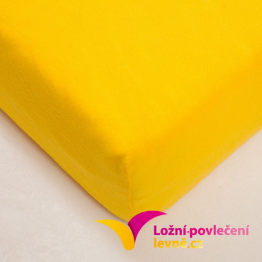 Dětské napínací JERSEY prostěradlo 70x140 - žlutá