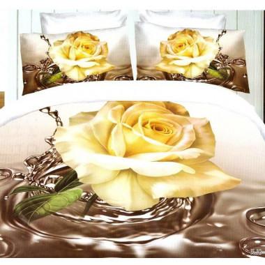 3D povlečení - white rose...
