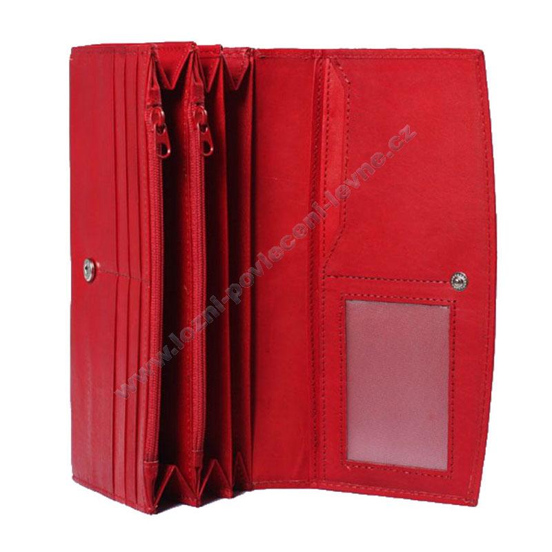 Dámská kožená peněženka Loranzo - červená d7bf7db48b