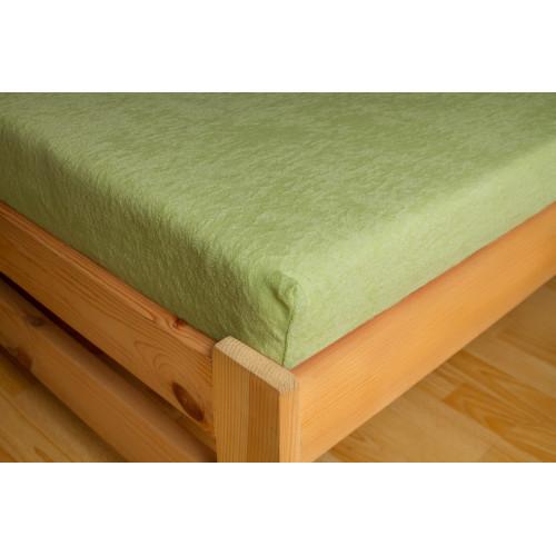 PREMIUM - FROTÉ prostěradlo - zelená