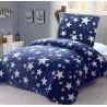 2dilne - Mikroflanelové povlečení - Modrá s hvězdami