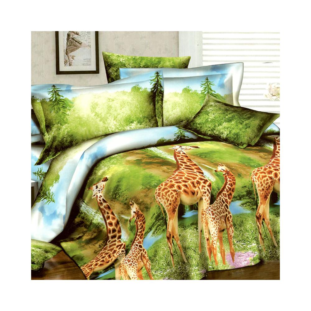 Francouzské povlečení - Žirafy v zeleni