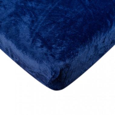 Mikroflanelové prostěradlo - modré 90x200 cm