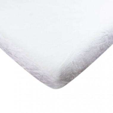 Mikroflanelové prostěradlo - Bílá 90x200 cm