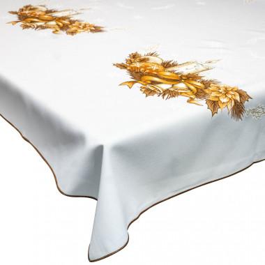 Vánoční dekorační ubrus zlatý - 1