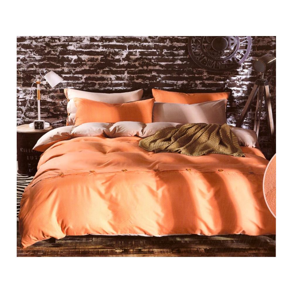 3-dílné bavlněné povlečení - Světle oranžové