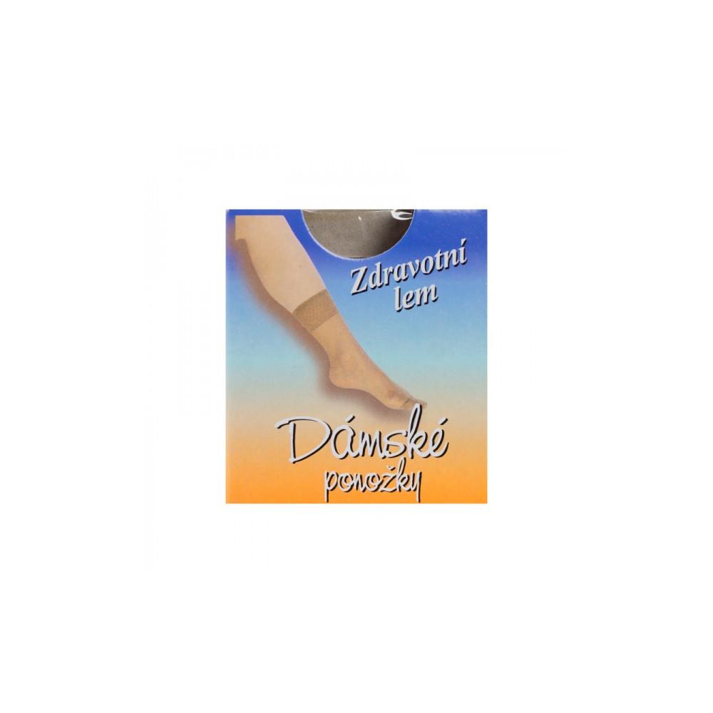 Silonové ponožky tělové barvy - 10 párů