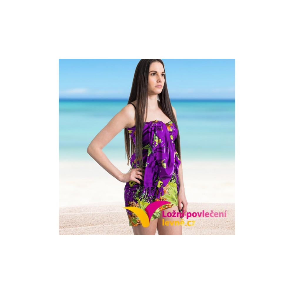 Plážový šátek - fialový