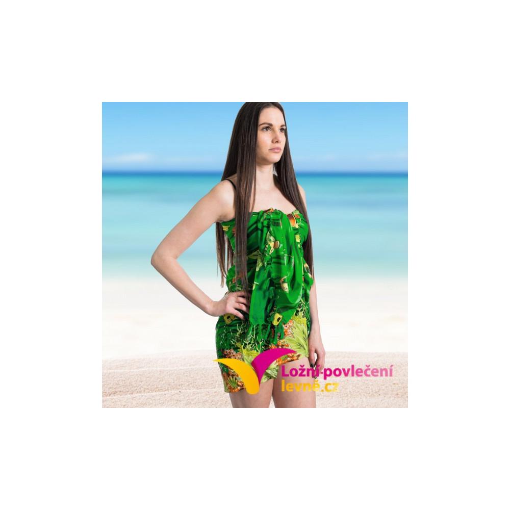 Plážový šátek - zelený