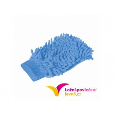 Čistící rukavice z mikrovlákna 2 ks - modrá