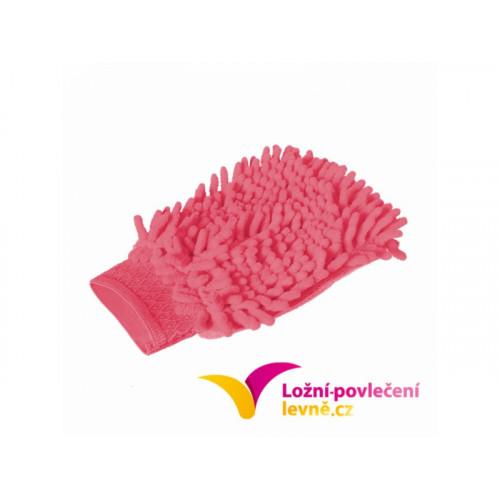 Čistící rukavice z mikrovlákna 2 ks - růžová