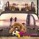 7-dílné 3D povlečení na dvoulůžko fotbal - NORA 4