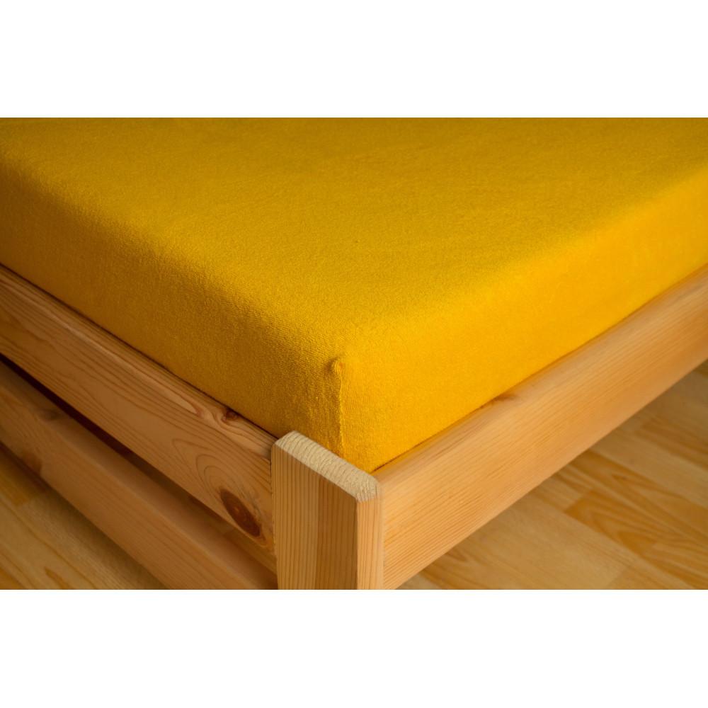 Dětské napínací froté prostěradlo žlutá 70x140 cm