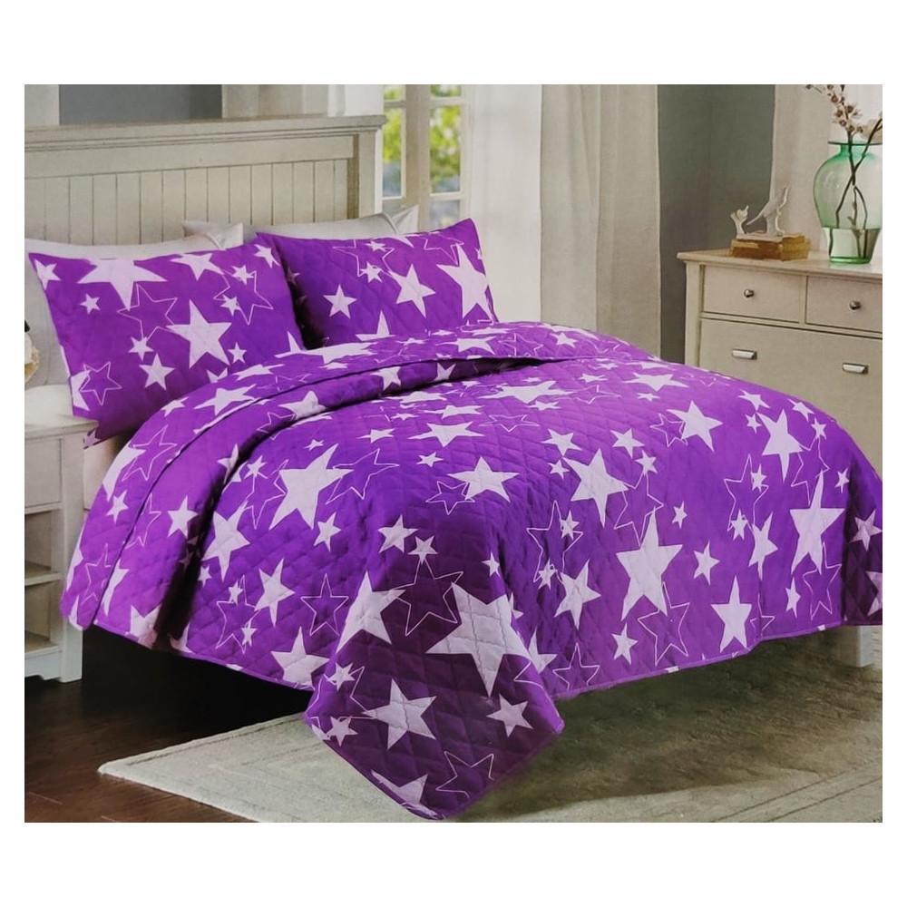 Přehoz na postel 200x240 - Modre Hvězdy